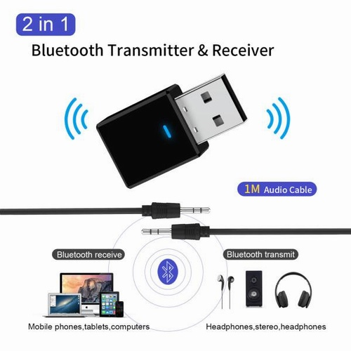 Bluetooth Audio Wireless Transmitter Stereo Music Adapter For PC TV CD Phone