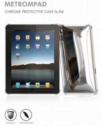 iPad аксессуары Macally Snap-on cover METROMPAD Chrome Сase for iPad